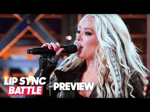 "Christina Aguilera Watches Erika Jayne Crush ""Fighter"" 