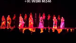 rajasthani folk dance artsit stage performance