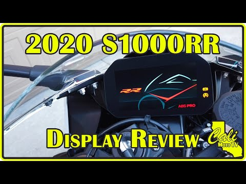 2020 BMW S1000RR Gauge And Instrument Cluster Review