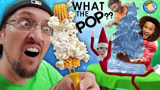 Popping Corn off the Cob!  New Way to Pop POPCORN!  (FV Family Squished Buddy the Elf Vlog)
