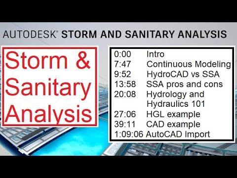 Storm and Sanitary Analysis (SSA) - Civil 3d - Tutorial 1 of 2