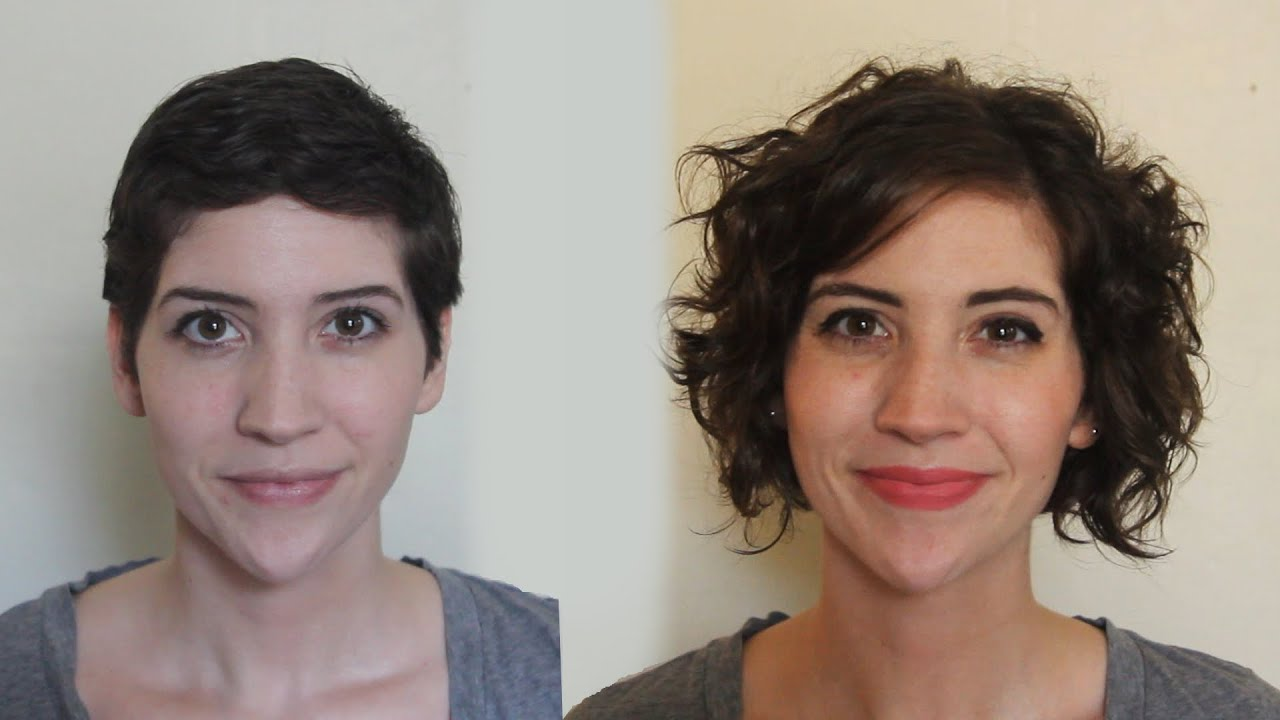 Pixie to Curly Bob e Year Timelapse