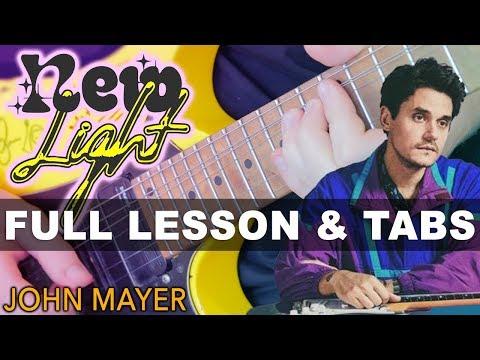 John Mayer - New Light Guitar Lesson With Darryl Syms   Easy Beginner Tutorial