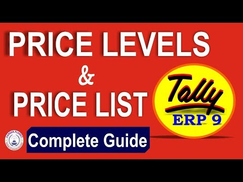 Multiple Price Level and Price List in Tally ERP 9 under GST-Part 78| Learn Tally Accounting