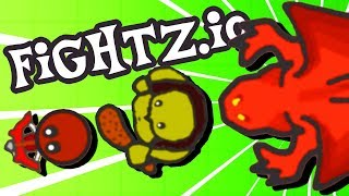 NEW NATURE WEAPONS and EPIC DRAGON ATTACKS!  Fightz.io Gameplay