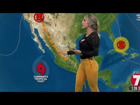 Nora Gayol In Black Top And Gold Tight Pants