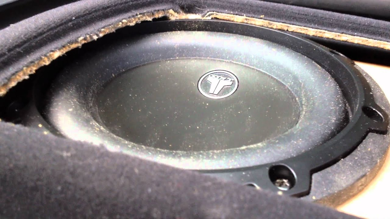 "JL Audio 5 1/4"" sub in BMW E38 custom made - YouTube"