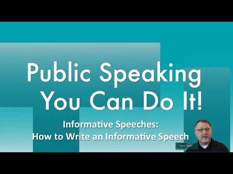 what is informative speech