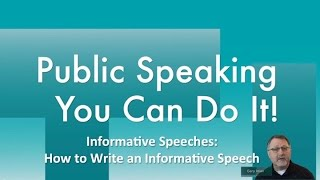 Baixar Informative Speeches: How to Write an Informative Speech