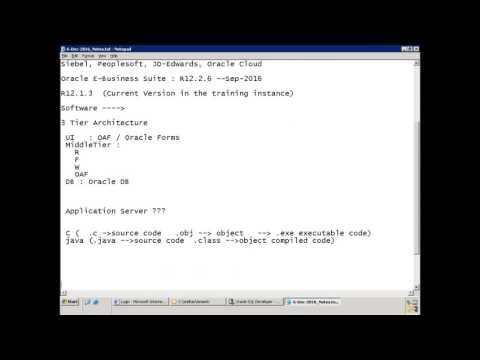 Oracle E-Business Suite - Technical Basics