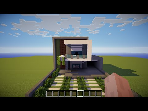 Full download tutorial como hacer una casa moderna en for Casa moderna 10x10 minecraft