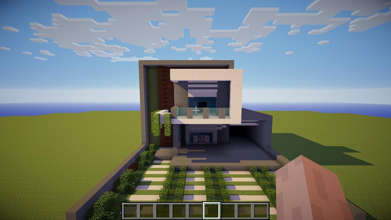 Minecraft como fazer uma casa moderna youtube for Casa moderna 9 mirote y blancana