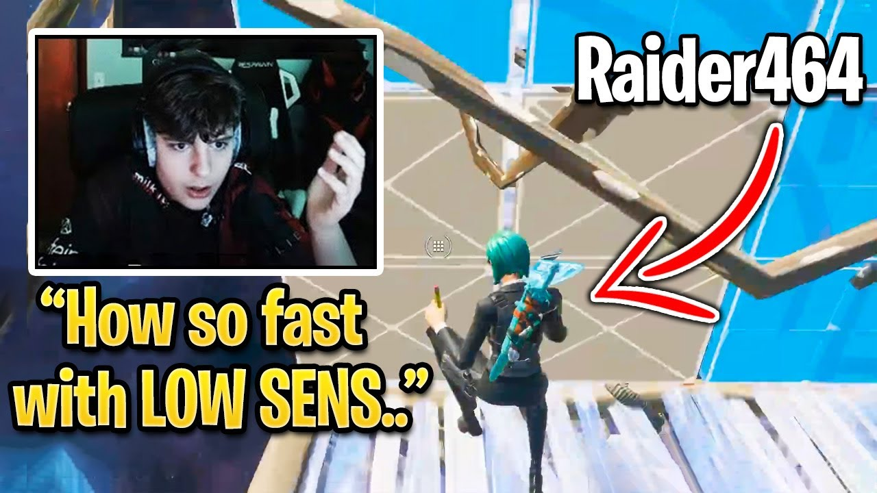 Raider464 Editing Faster Than Ryft on The LOWEST Sensitivity in Fortnite Season 3!