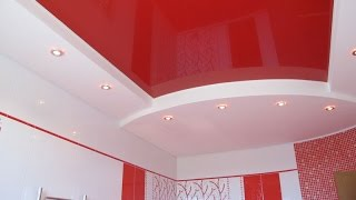 Натяжной потолок в ванной комнате — идеи дизайна(Натяжной потолок в ванной – это красивый дизайн ванной на долгие годы. Установите натяжной потолок в ванно..., 2015-06-29T13:59:22.000Z)