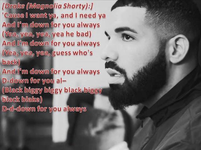 Drake in my feeling   official lyrics   video #1