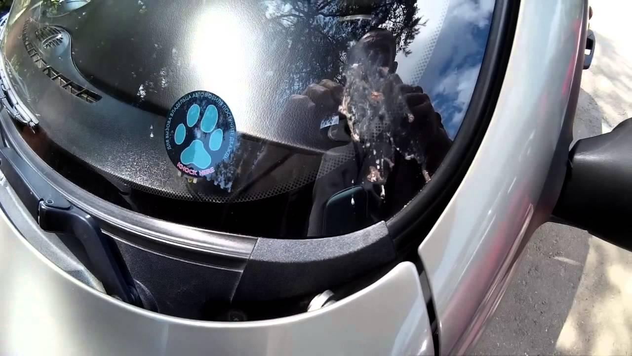 Замена лобового стекла шевроле видео