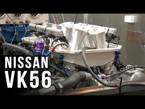 Nissan VK56 engine dyno - 660hp @ 8800rpm - YouTube