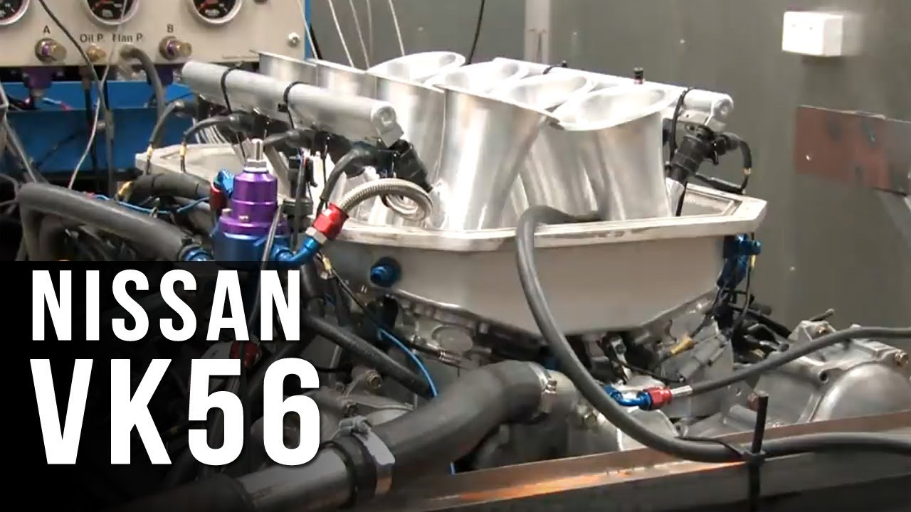 Nissan VK56 engine dyno - 660hp @ 8800rpm
