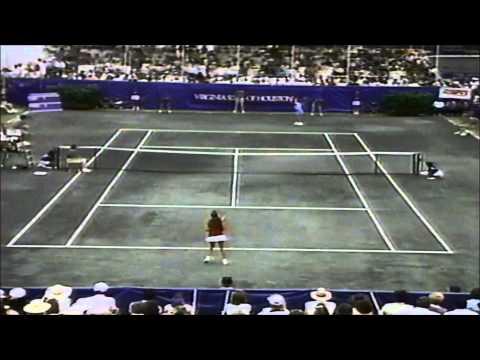 Chris Evert vs 15 yr old Monica Seles 1989 Virginia Slims of Houston final
