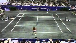 Chris Evert vs 15 yr old Monica Seles 1989 Virginia Slims of Houston final