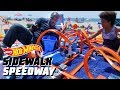 HOT WHEELS SURPRISE BEACH PARTY | Sidewalk Speedway | Hot Wheels