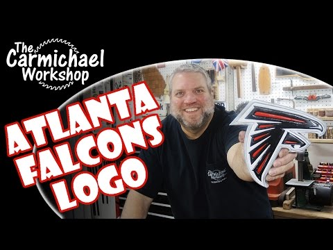 Wooden Atlanta Falcons Logo - Superbowl LI Segmentation Woodworking Project