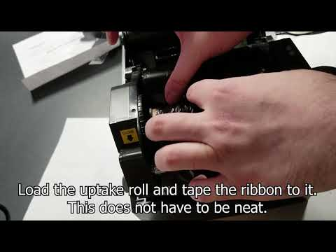 Loading Tags And Media In The Bixolon TX400 Printer