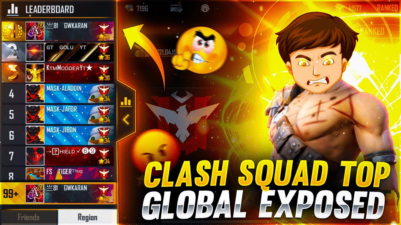 Clash Squad Top Global exposed 😡 -Garena free fire