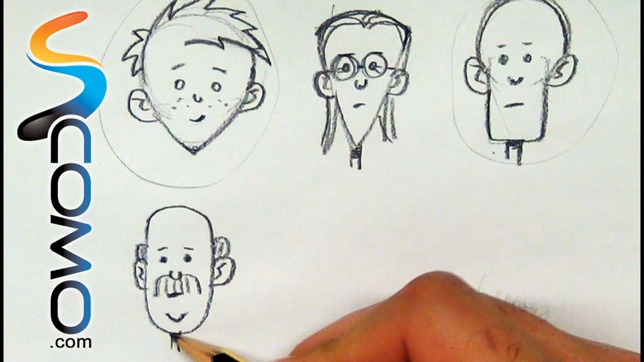 Dibujar Caras Con Formas Geométricas