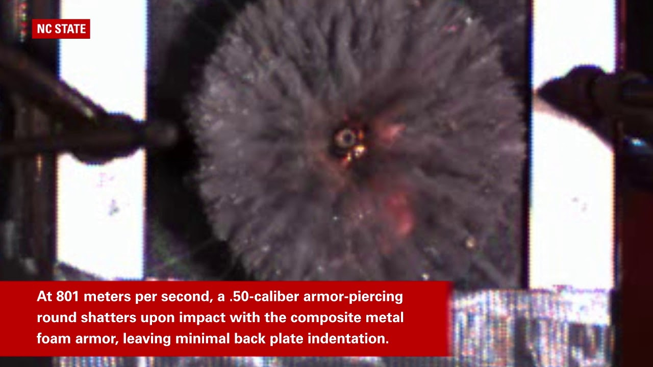 Scientists have built a foam armor that stops bullets as