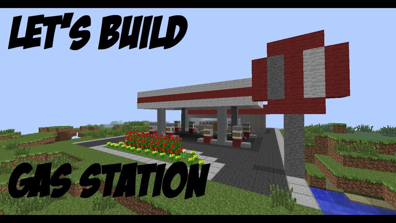minecraft let 39 s build 49 gas station part 1 youtube. Black Bedroom Furniture Sets. Home Design Ideas