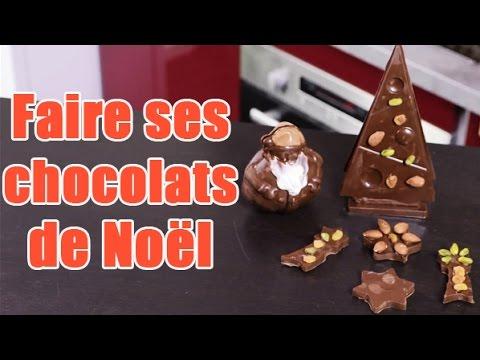 faire-ses-chocolats-de-noël---mouler-un-père-noël-en-chocolat