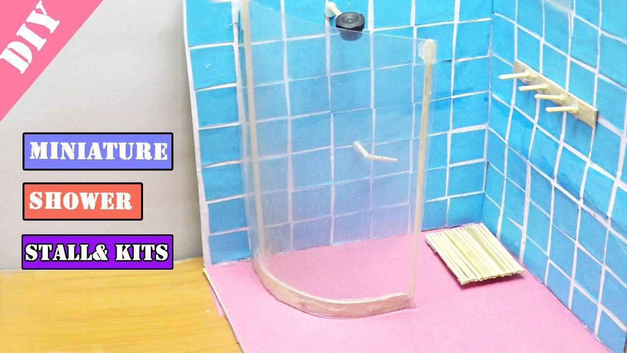 DIY Miniature Shower Stalls  Kits  Dollhouse Ideas  YouTube