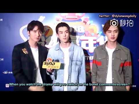 [ENGSUBS] 180818 Weibo Fan Festival Interview - Dylan Wang (王鹤棣)s Cut