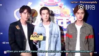 [ENGSUBS] 180818 Weibo Fan Festival Interview - Dylan Wang (王鹤棣)'s Cut