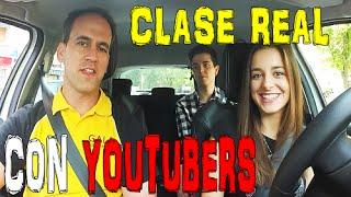 Clase Práctica de Conducir a tiempo REAL ¡CON YOUTUBERS!. Clase de manejo completa