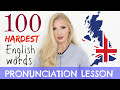 100 HARDEST English words pronunciation practice lesson (with definitions) | Learn British English