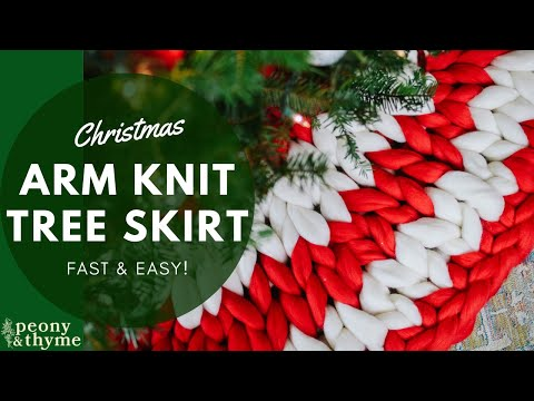 Quick Amp Classy How To Arm Knit A Giant Yarn Christmas