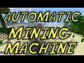 Minecraft-Automatic Mining Machine-How To-Tutorial (ps4/Xbox one/PC)