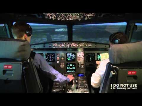 Flying Airbus A320: full cockpit video (part 3) - Baltic Aviation Academy