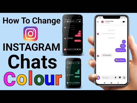 How To Change Instagram Chats Colour / Theme || Instagram Dm Chats Ke Colour Kaise Change Karein