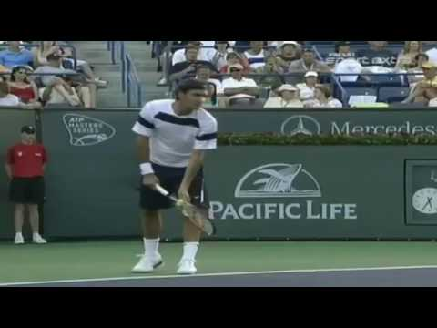 Roger Fed R V Guillermo Canas Indian Wells 2007 R2 Highlights