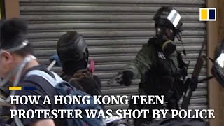 How a Hong Kong teen protester was shot by police