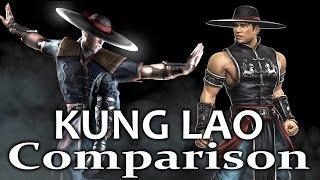 Mortal Kombat X - KUNG LAO Comparison vs MK9! (Intro,Gameplay,Combos,Xray,Fatality) MKX!