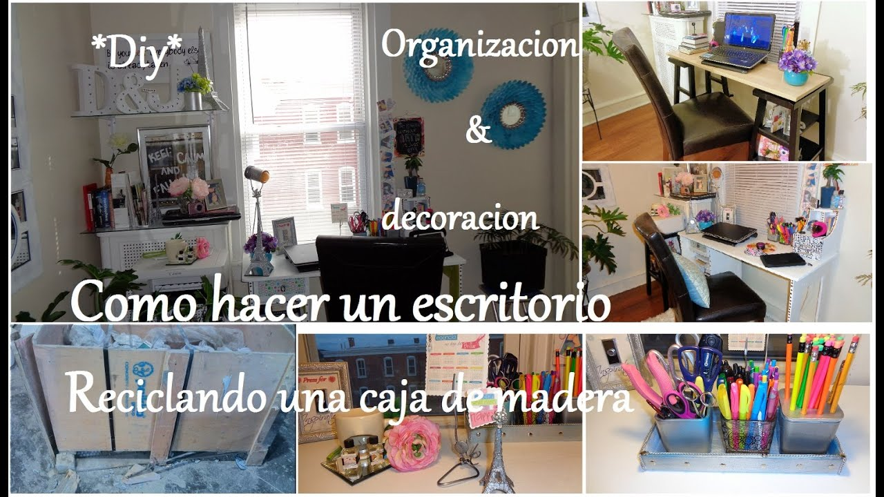C mo hacer un escritorio organizaci n y decoraci n diy for Decoracion de escritorios en casa
