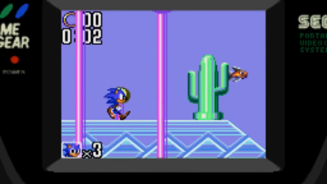 Level Select Cheat Sonic The Hedgehog 2 Sega Game Gear Youtube