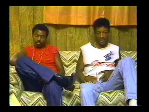 Kool and The Gang being interviewed after a 1986 concert