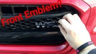 homepage tile video photo for WRX Front Emblem Install?