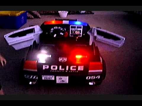 kidtrax dodge charger police car wlighting mod youtube
