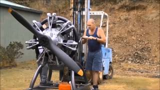Radial Engine Start up,Armstrong Siddley Cheetah IX
